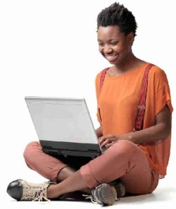 girl 2 with laptop tractrain
